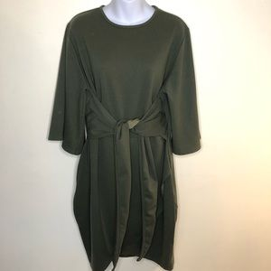 Boohoo Sheath front knot tulip skirt dress size 16